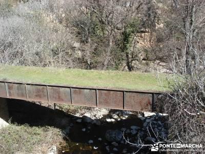 Azud del Mesto - Cascada del Hervidero;rascafria rutas senderistas brujula orientacion